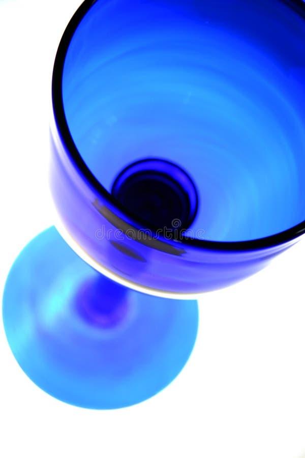 Blauw wijnglas