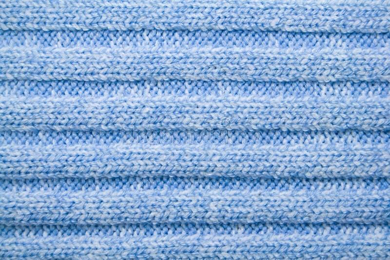 Blauw wollen patroon stock fotografie