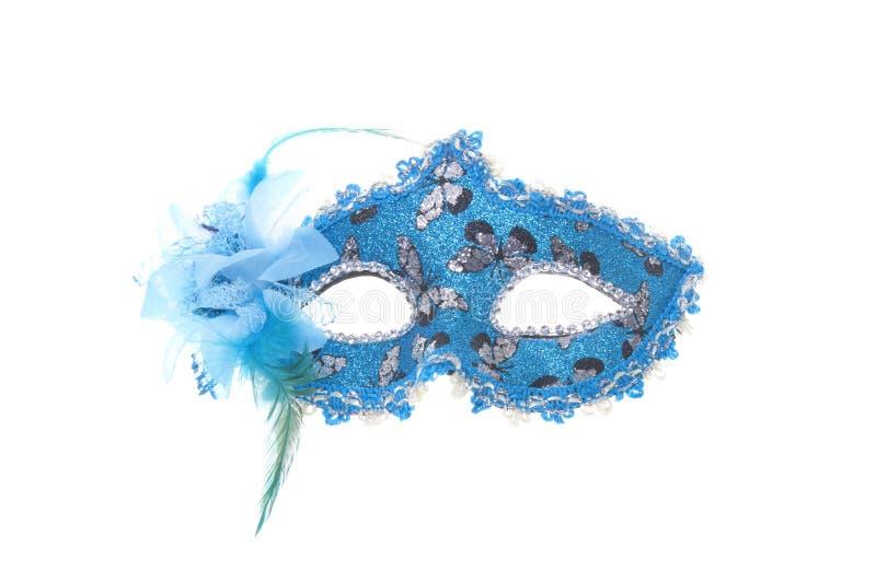 Blauw, Zwart en zilveren gezichtsmasker royalty-vrije stock fotografie