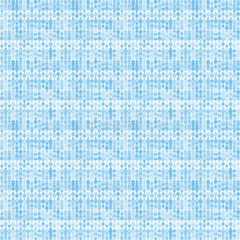 Blauwachtig gestreept gestileerd breiend patroon vector illustratie