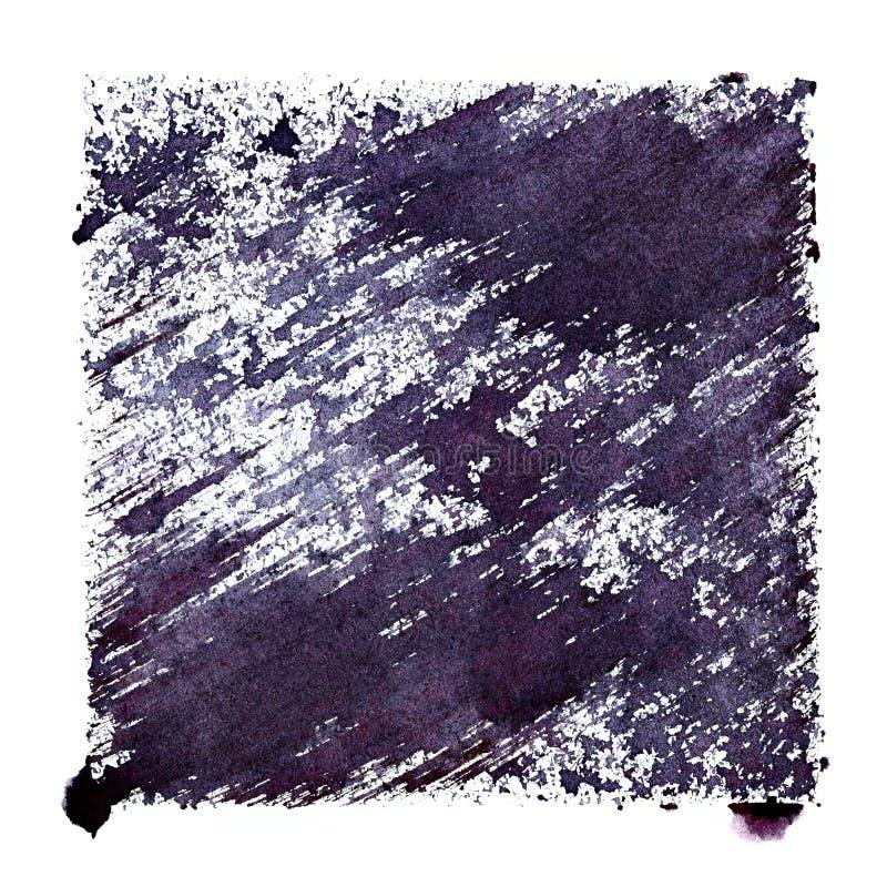 Blauwachtig stenciled vierkant vector illustratie