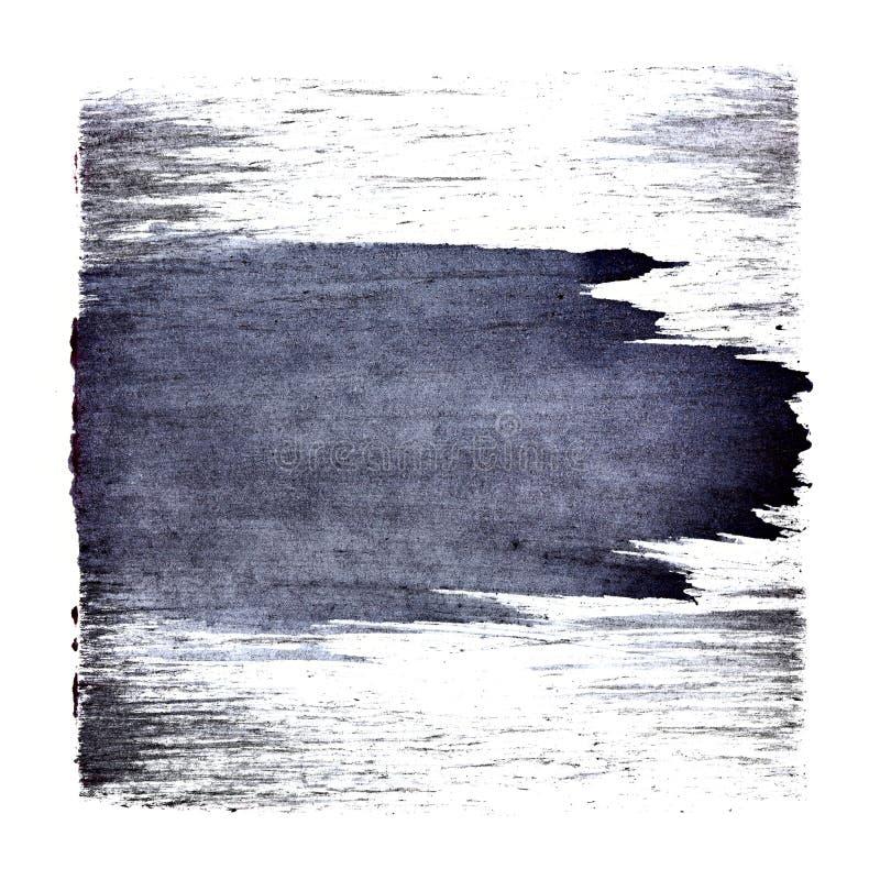 Blauwachtig vierkant met slag stock illustratie