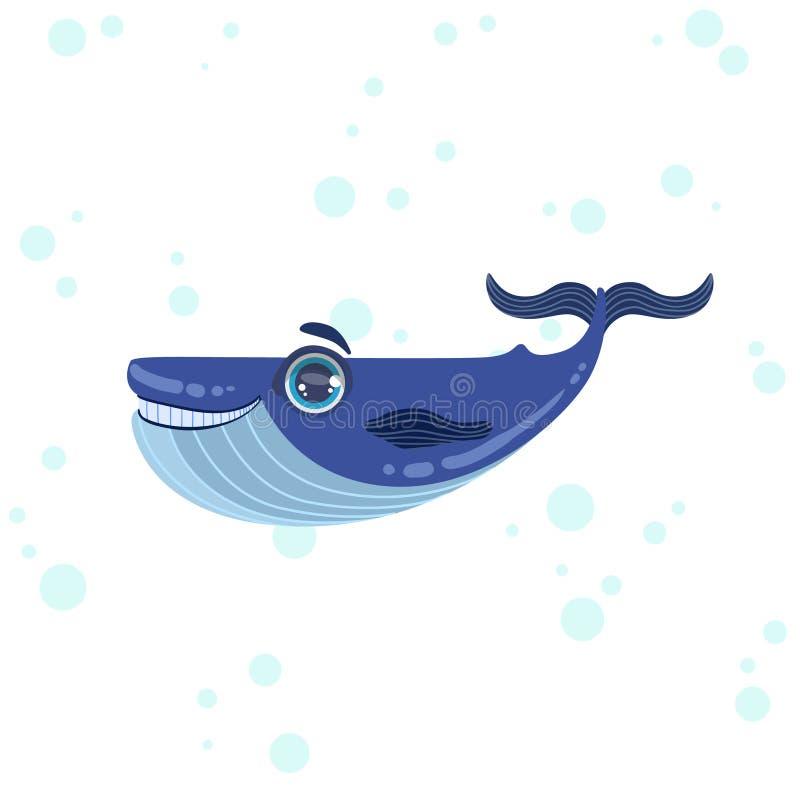 Blauwal-Zeichnung vektor abbildung. Illustration von blau - 72255267