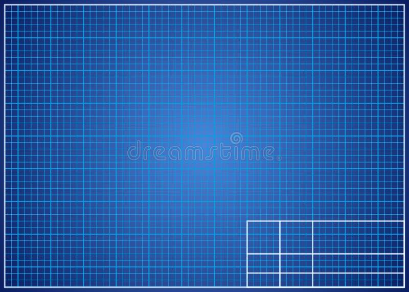 Blauwdrukachtergrond Technisch ontwerpdocument stock illustratie