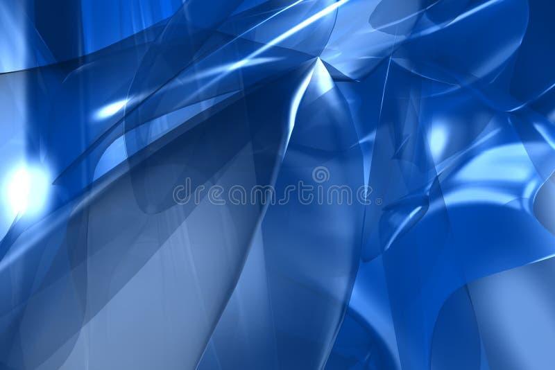 Blauwe abstracte 3d geeft terug stock illustratie