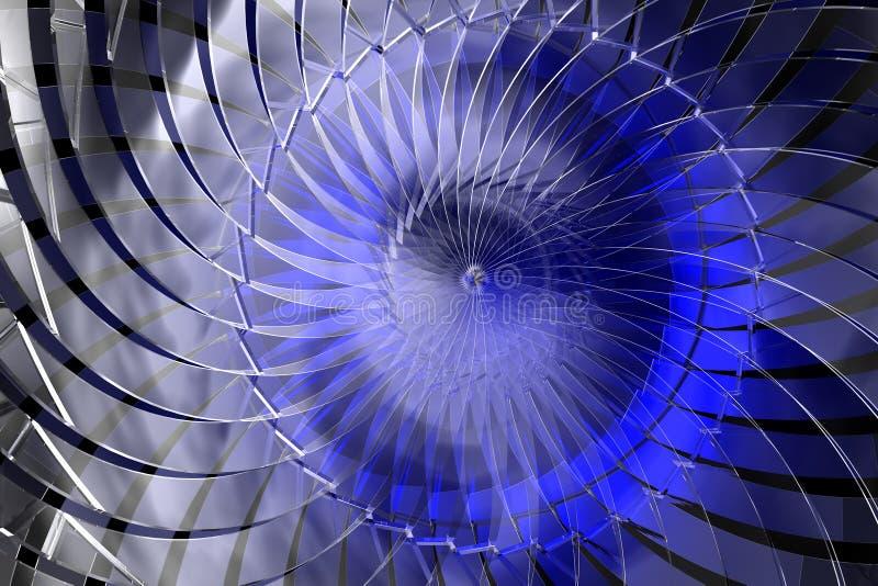 Blauwe abstracte 3D ruimte vector illustratie