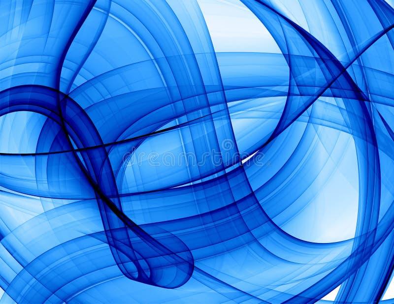 Blauwe abstracte achtergrond royalty-vrije illustratie