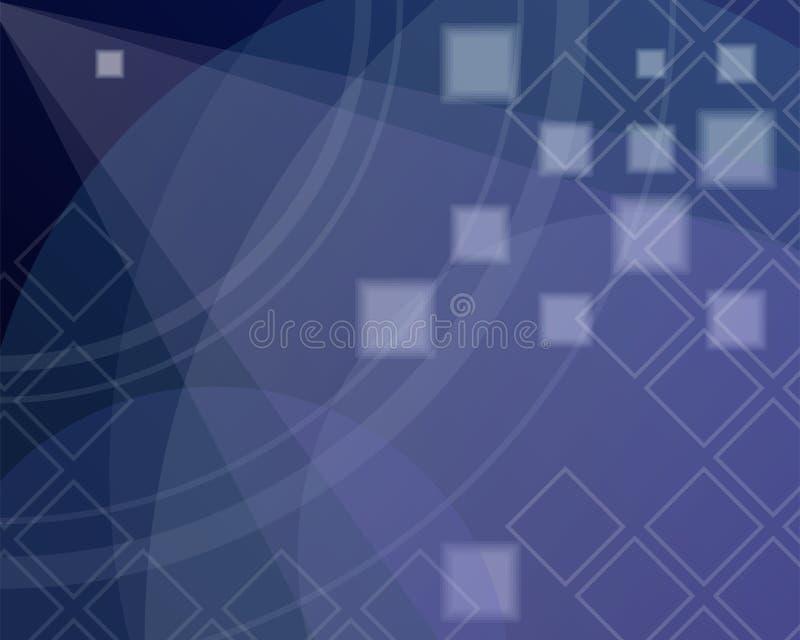 Blauwe Abstracte Achtergrond Concept de nachthemel stock illustratie