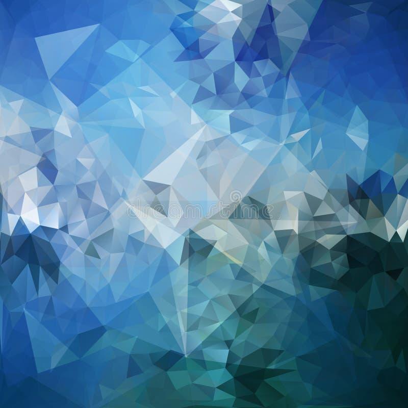 Blauwe abstracte achtergrond, de vector van het driehoeksontwerp vector illustratie