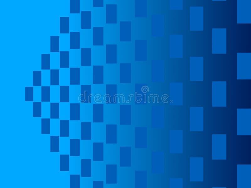 Blauwe abstracte achtergrond, deeltjesrechthoeken stock illustratie