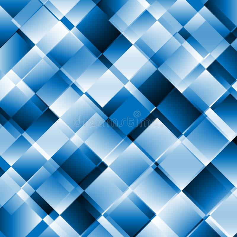 Blauwe abstracte achtergrond met geometrisch patroon royalty-vrije illustratie