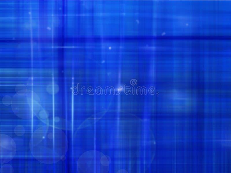 Blauwe abstracte achtergrond met lichte lijnen royalty-vrije illustratie
