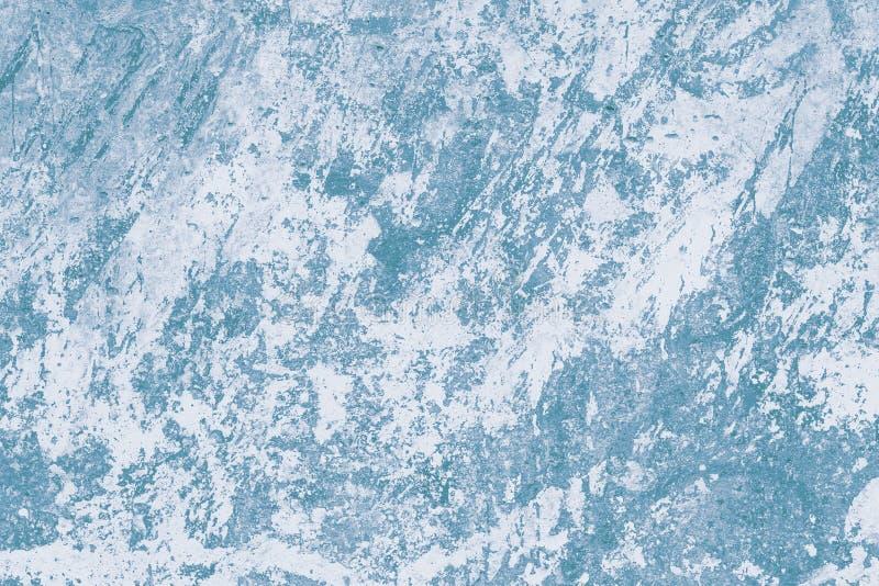 Blauwe Abstracte Achtergrond Modern patroon met marmereffect Geschilderde muuroppervlakte Waterverfabstractie met inktvlekken Lig stock afbeelding