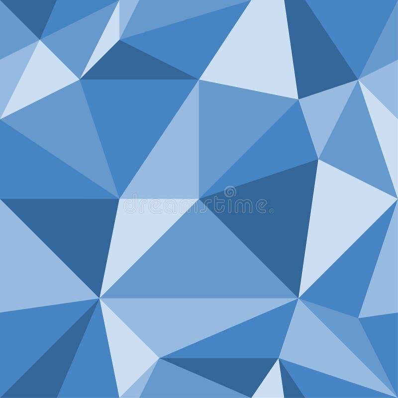 Blauwe abstracte achtergrond van driehoekig Naadloze geometrische textuur Mozaïekpatroon Vector illustratie vector illustratie