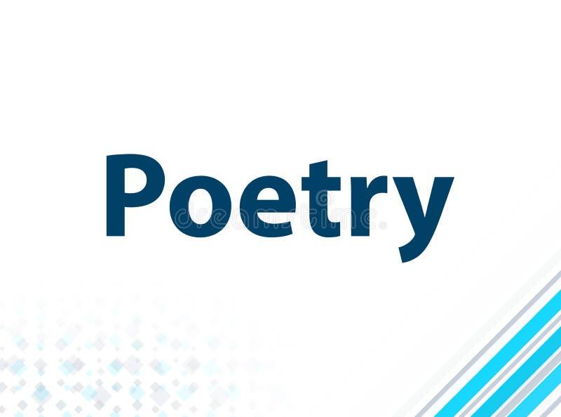 Blauwe Abstracte Achtergrond van het poëzie de Moderne Vlakke Ontwerp stock illustratie