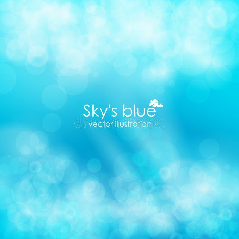 Blauwe abstracte achtergrond, vectorillustratie stock illustratie