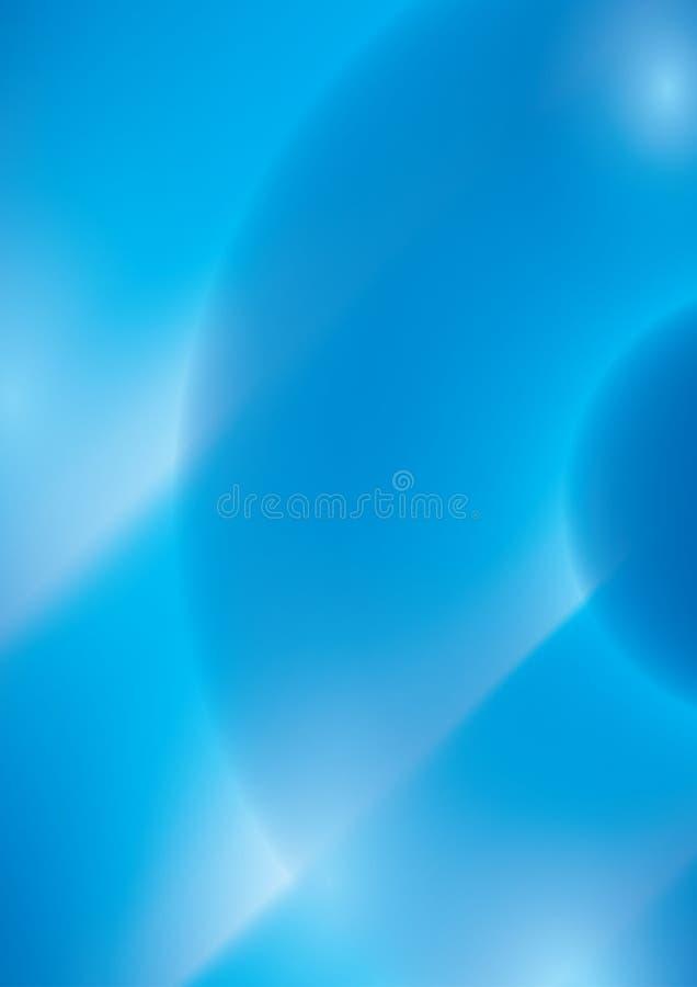 Blauwe abstracte achtergrond - vectorillustratie vector illustratie
