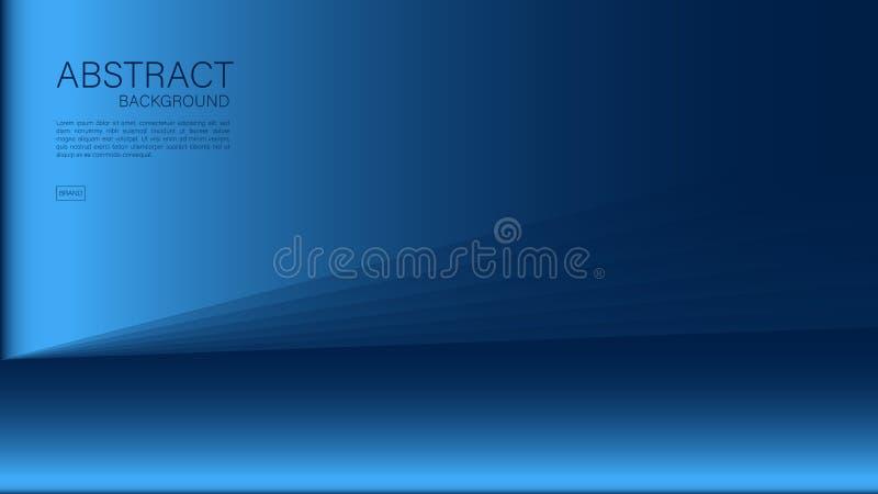 Blauwe abstracte achtergrond, veelhoek, Geometrische vector, grafische, Minimale Textuur, dekkingsontwerp, vliegermalplaatje, ban royalty-vrije illustratie