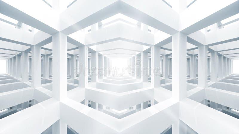 Blauwe abstracte architectuur 3d achtergrond vector illustratie