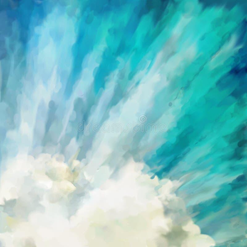 Blauwe abstracte artistieke achtergrond royalty-vrije illustratie
