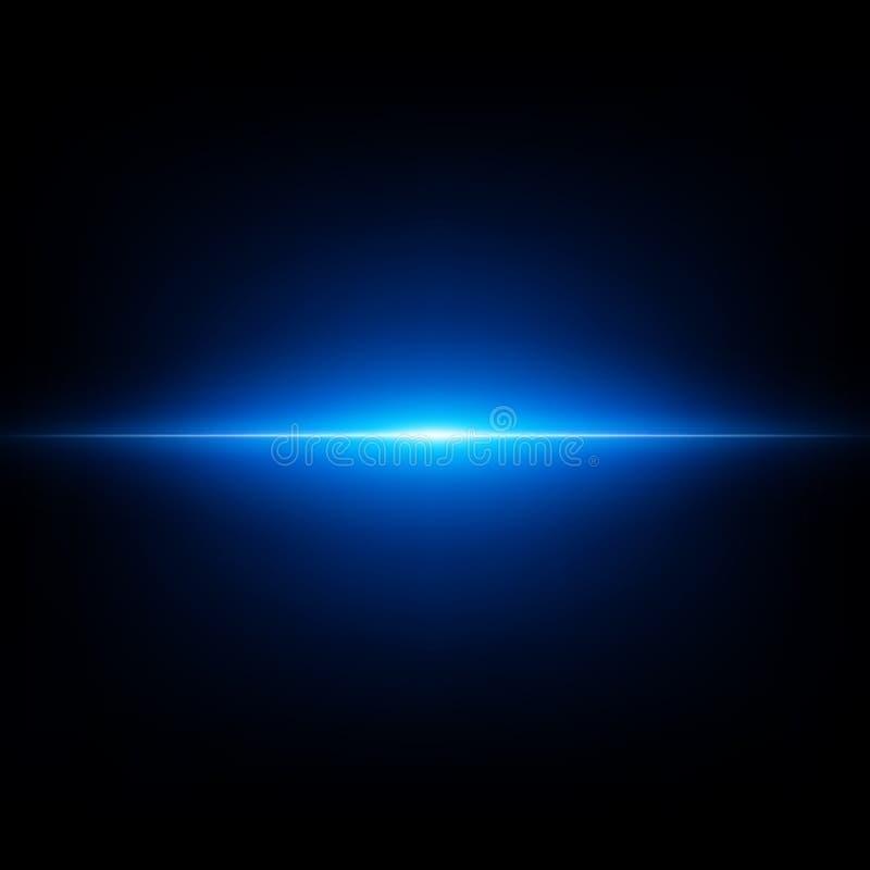 Blauwe abstracte flits op zwarte achtergrond Het vliegen blauwe uitbarsting EPS 10 vector inbegrepen dossier royalty-vrije illustratie