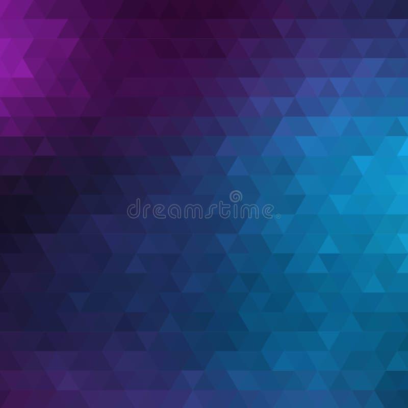 Blauwe Abstracte Geometrische Driehoeks Verticale Achtergrond - het Vector Vectorpatroon van de Illustratie Abstracte Veelhoek -  royalty-vrije illustratie