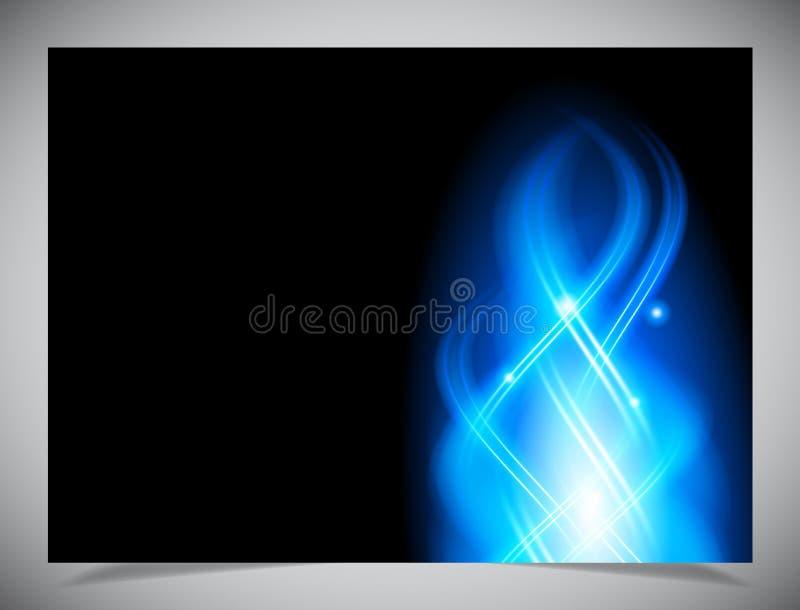 Download Blauwe Abstracte Gloeiende Achtergrond Vector Illustratie - Illustratie bestaande uit futuristisch, zwart: 39106858