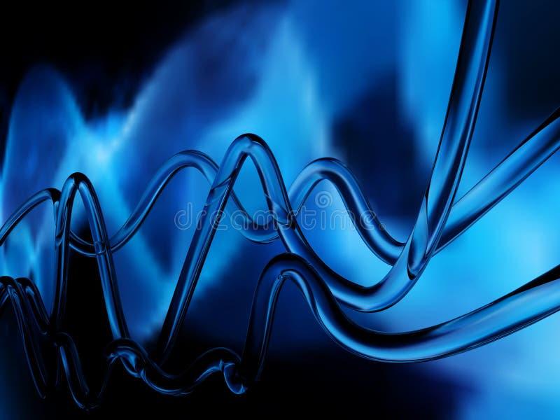 Blauwe abstracte golven stock illustratie