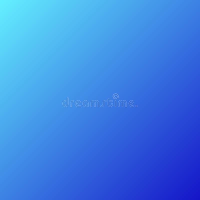 Blauwe abstracte gradiëntachtergrond - vector grafisch ontwerp stock illustratie
