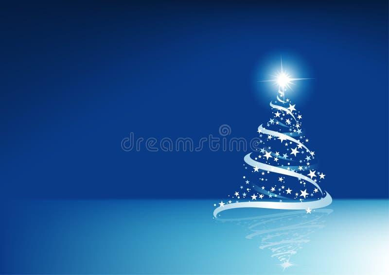 Blauwe Abstracte Kerstmis stock illustratie