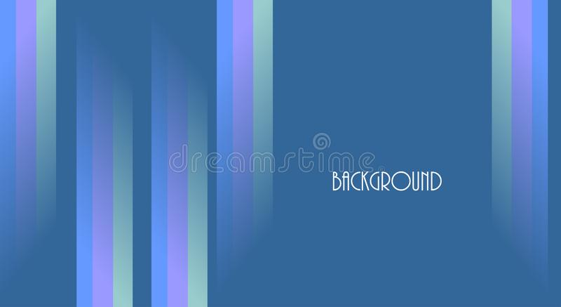 Blauwe abstracte kleurrijke achtergrond, lijnen, Banner, samenvatting, vector illustratie