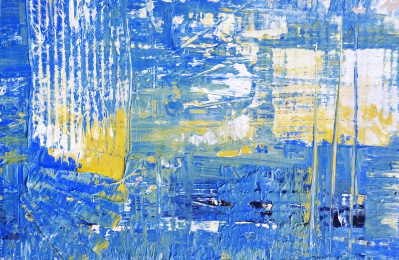 Blauwe abstracte kunstachtergrond vector illustratie