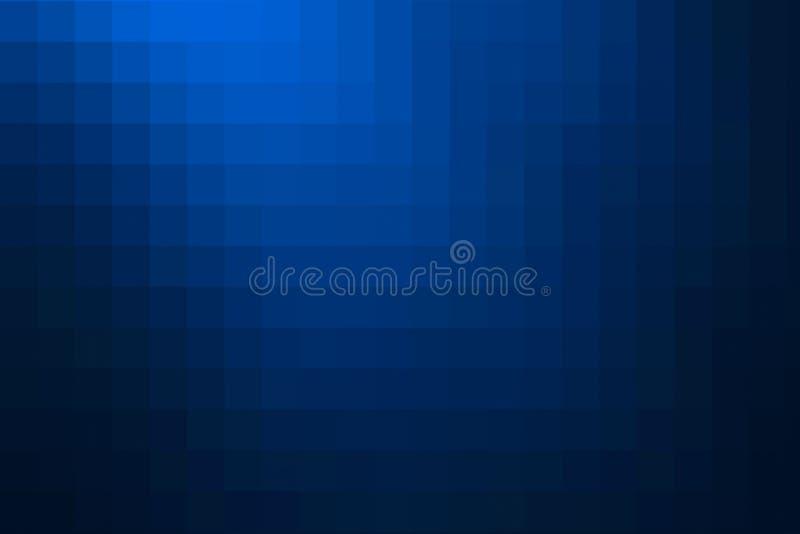 Blauwe abstracte mozaïekachtergrond stock illustratie