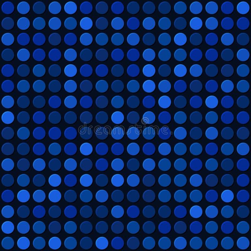 Blauwe Abstracte Naadloze Achtergrond met Bellenvlek. Vector stock illustratie