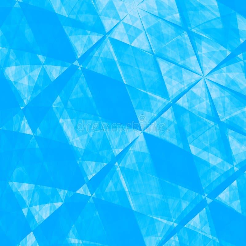 Blauwe Abstracte Origamidocument Achtergrond - Textuur vector illustratie