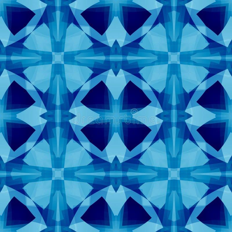 Blauwe Abstracte Textuur Naadloze tegel Gedetailleerde illustratie als achtergrond Textieldrukpatroon De steekproef van het de st stock illustratie