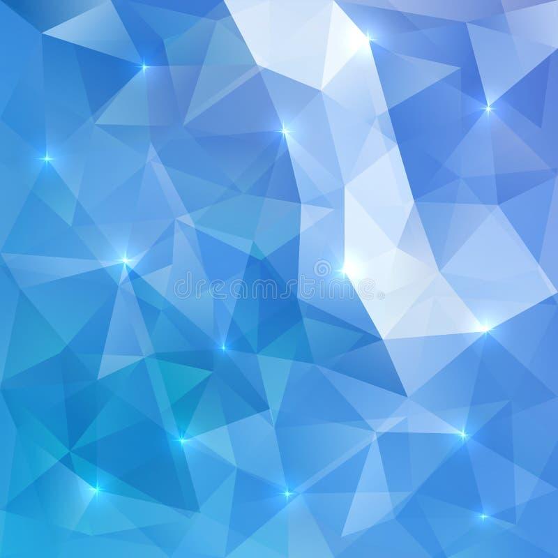Blauwe abstracte vector glanzende ijsachtergrond stock illustratie