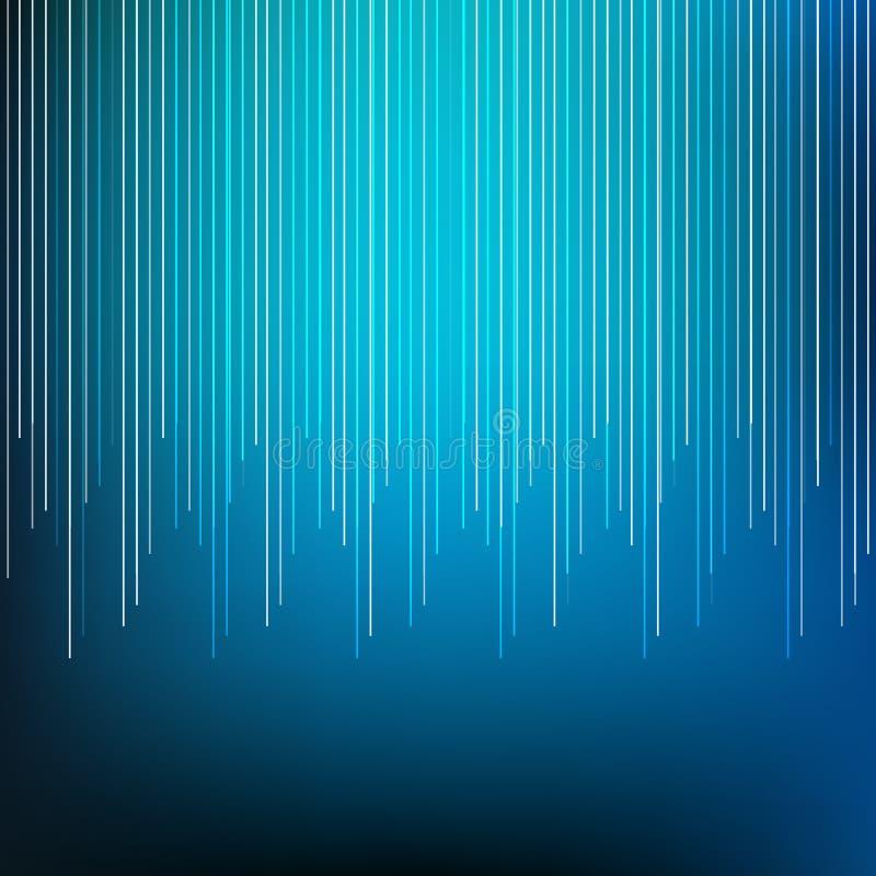 Blauwe abstracte verticale lijnen vage vector als achtergrond royalty-vrije illustratie