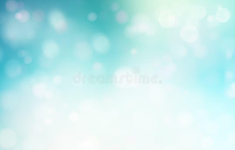 Blauwe abstracte zachte achtergrond royalty-vrije illustratie