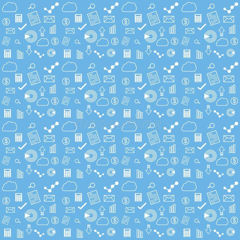Blauwe accountants bedrijfspatroonachtergrond stock illustratie