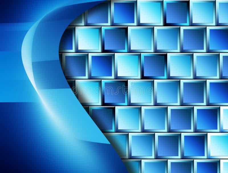 Download Blauwe achtergrond stock illustratie. Illustratie bestaande uit punten - 10781047