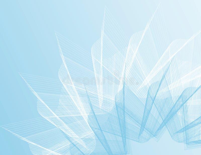 Blauwe achtergrond vector illustratie