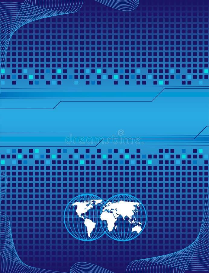 Blauwe achtergrond en witte wereld royalty-vrije illustratie