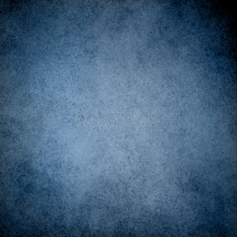 Blauwe achtergrond met de grensontwerp van de grunge uitstekend textuur en lichtblauw centrum royalty-vrije stock foto
