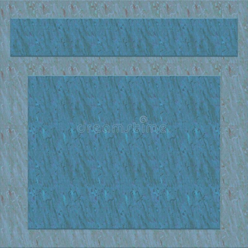 Blauwe achtergrond met frame vector illustratie