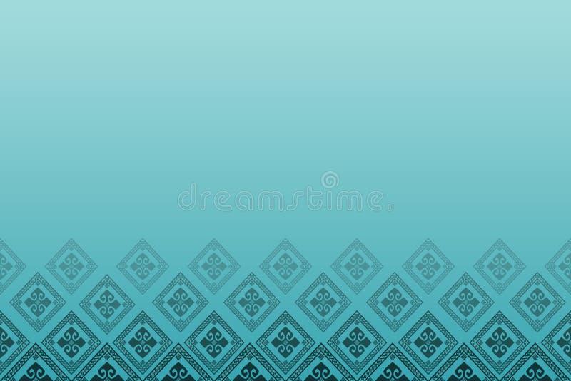 Blauwe achtergrond met lijn van diamanten stock illustratie