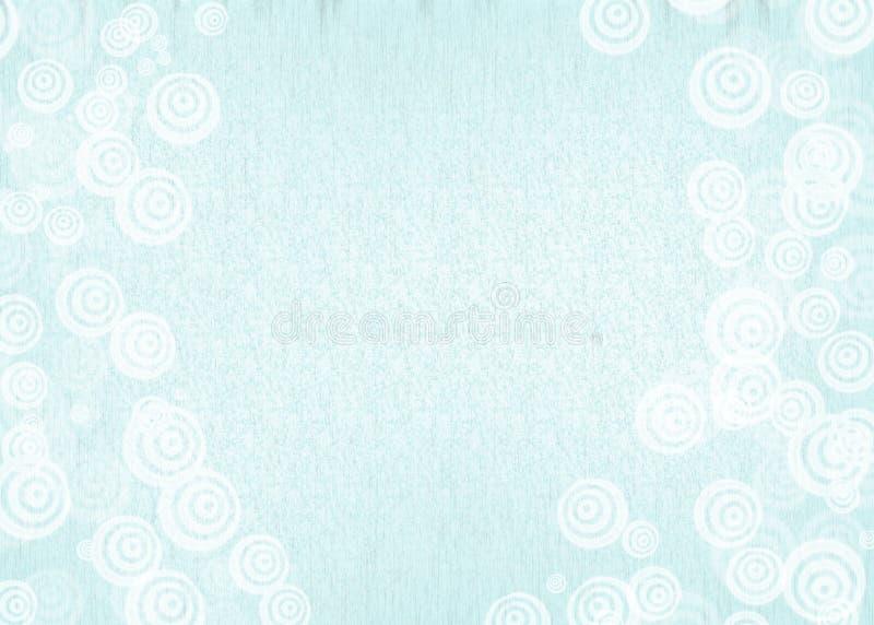 Blauwe achtergrond met witte krullen stock fotografie