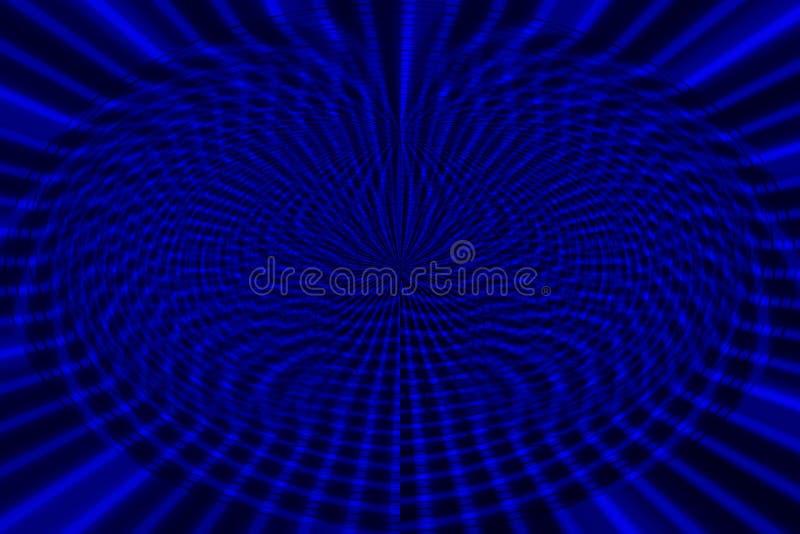 Blauwe achtergrond van lijn vastgestelde abstracte vertegenwoordiging van patroon en vernietiging royalty-vrije stock afbeelding