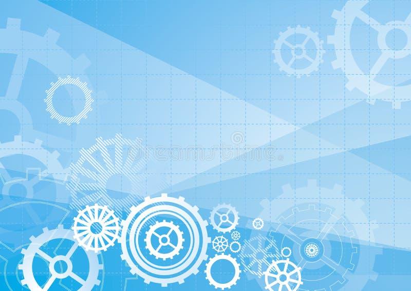 Blauwe achtergrond, vector stock illustratie