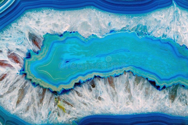 Blauwe agaatachtergrond stock afbeelding